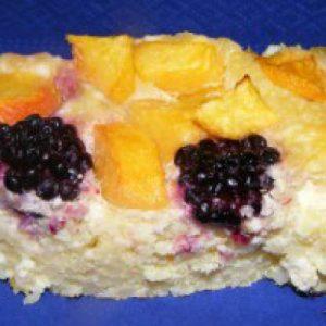 gyümölcsös köles sütemény