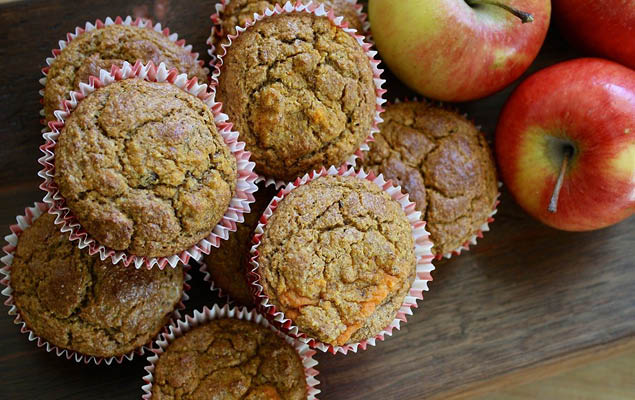 almás-mézes muffin