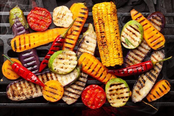 zöldség grillezés